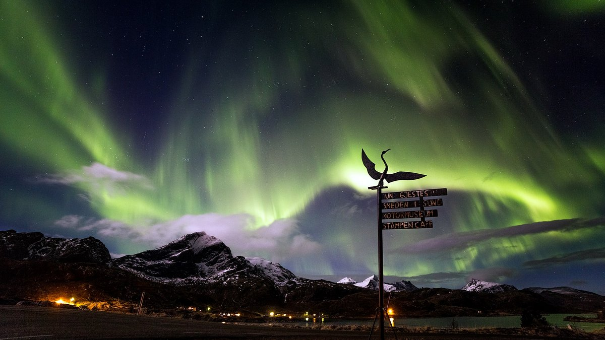 Aurora Borealis Lofoten islands Norway