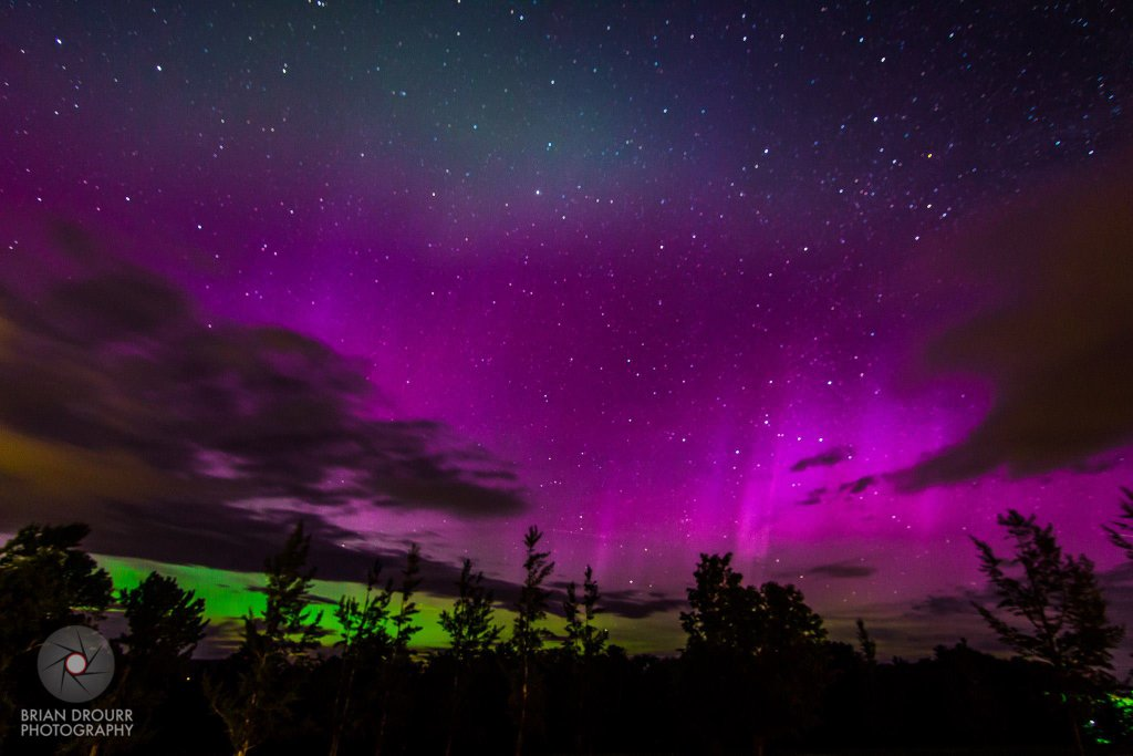 Aurora Borealis. From Bethlehem, New Hampshire by Brian Drourr
