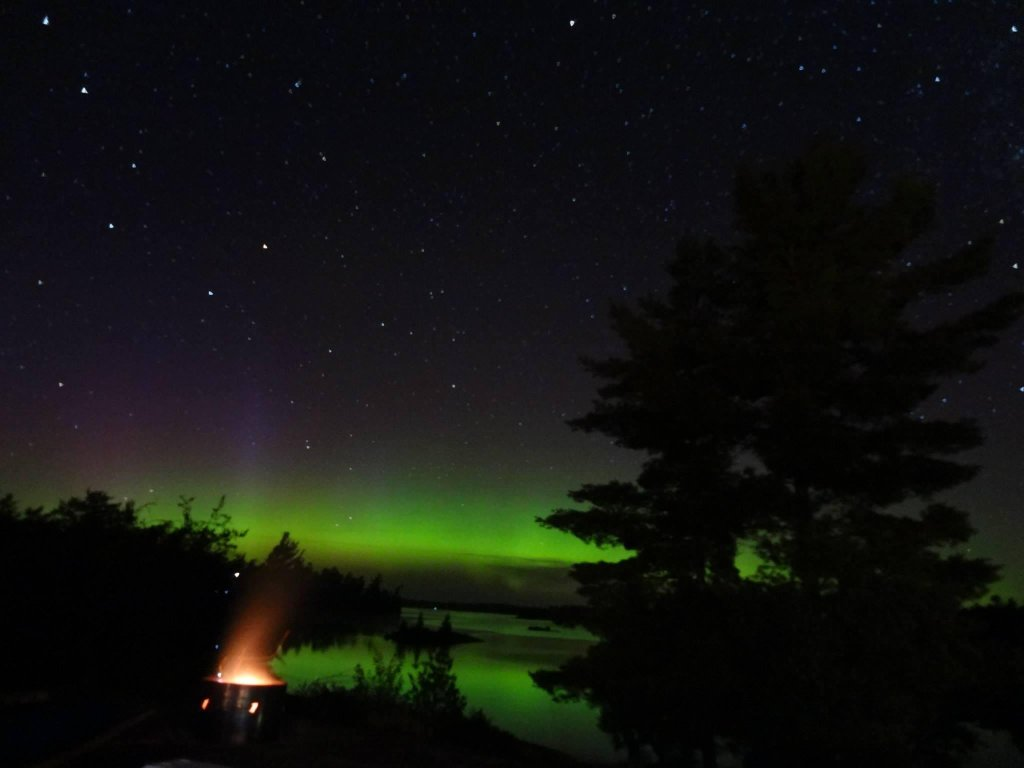 Aurora Borealis. From the shores of the French River, ON, Canada by Ray St. Louis