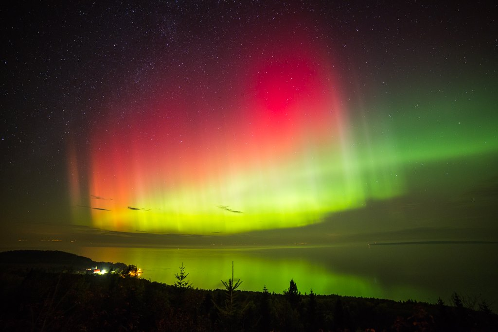 Aurora Borealis. From Eastern Quebec by Sebastien Ross
