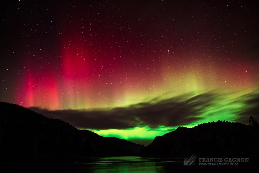 Aurora Borealis. From Parc national de la Jacques-Cartier, Quebec, Canada by Francis Gagnon Photography