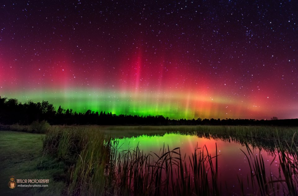 Aurora Borealis. From central Maine by Mike Taylor
