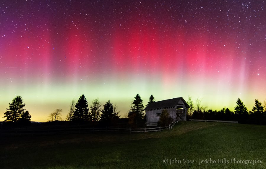 Aurora Borealis. From Foster s Bridge Cabot, Vermont by Jericho Hills Photography