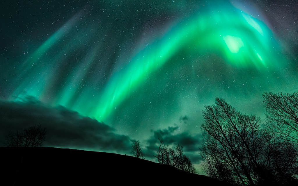 Aurora Borealis. Near Sørkjosen, Troms, Norway by Tor-Ivar Næss