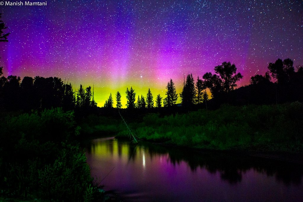 Aurora Borealis. From Grand Teton National Park by Manish Mamtani Photography