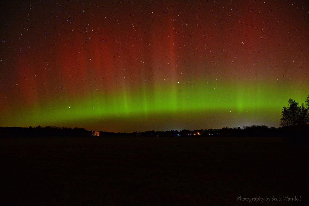 Aurora Borealis. From Gorham, Maine, by Scott Wandell